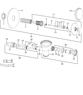 delany hydraulic activated flush valve repair parts